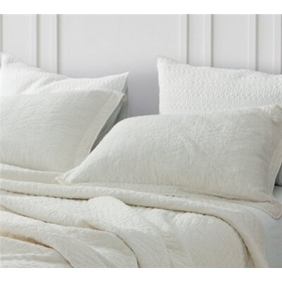 Maser Cotton Virtue Textured Sham Size: Standard/Twin, Color: Off White