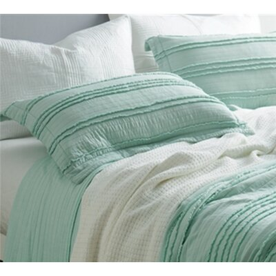 Christner Ruffled Stone Washed Sham Size: Standard/Twin, Color: Mint