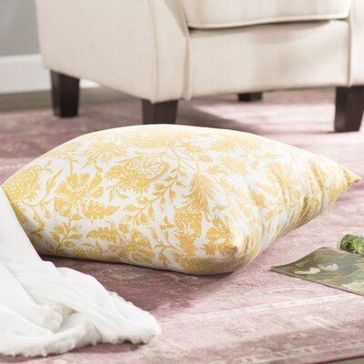Martiques Cotton Floor Pillow Color: Yellow