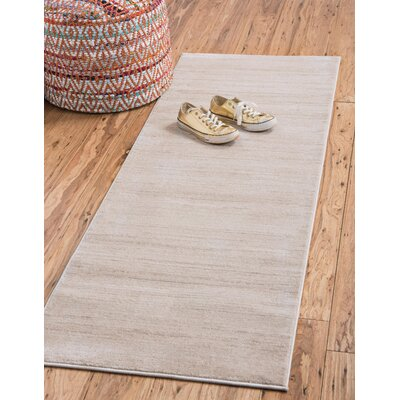 Uptown Beige Area Rug Rug Size: Rectangle 8 x 10