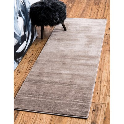 Uptown Brown Area Rug Rug Size: Runner 22 x 6