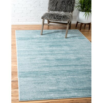 Uptown Turquoise Area Rug Rug Size: Rectangle 8 x 10