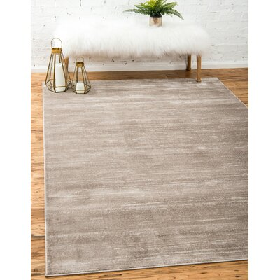 Uptown Brown Area Rug Rug Size: Rectangle 8 x 10