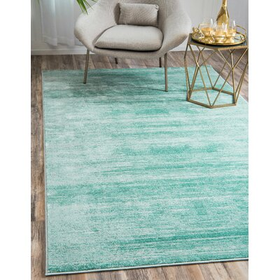 Uptown Turquoise Area Rug Rug Size: Rectangle 5 x 8