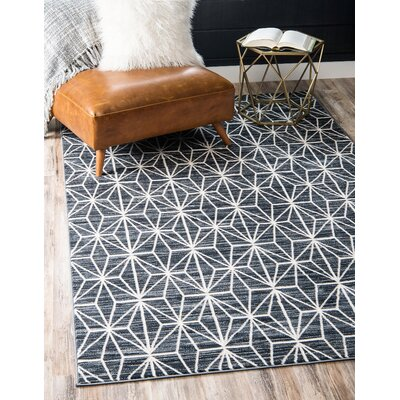 Uptown Navy Area Rug Rug Size: Rectangle 8 x 10