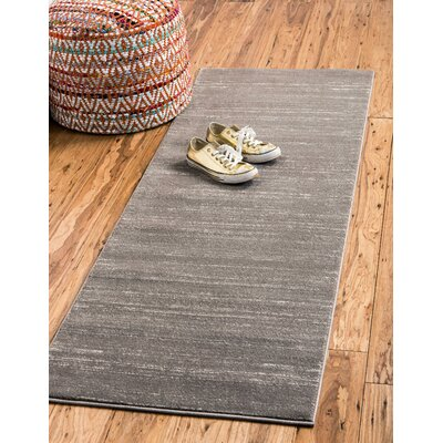Uptown Gray Area Rug Rug Size: Rectangle 9 x 12