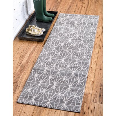 Uptown Gray Area Rug Rug Size: Runner 22 x 6