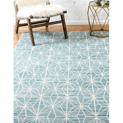 Uptown Blue Area Rug Rug Size: Rectangle 9 x 12