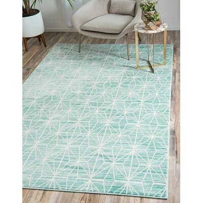 Uptown Blue Area Rug Rug Size: Rectangle 5 x 8