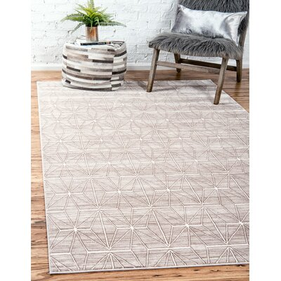 Uptown Light Brown Area Rug Rug Size: Rectangle 5 x 8