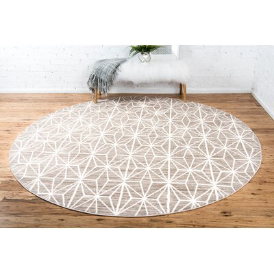 Uptown Brown Area Rug Rug Size: Round 8