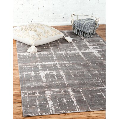 Uptown Gray Area Rug Rug Size: Rectangle 4 x 6
