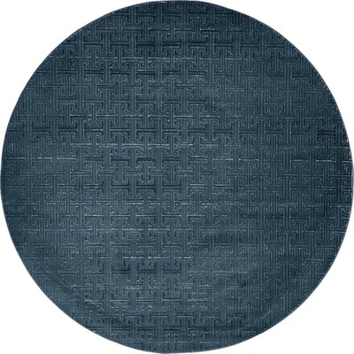 Uptown Navy/Blue Area Rug Rug Size: Rectangle 4 x 6