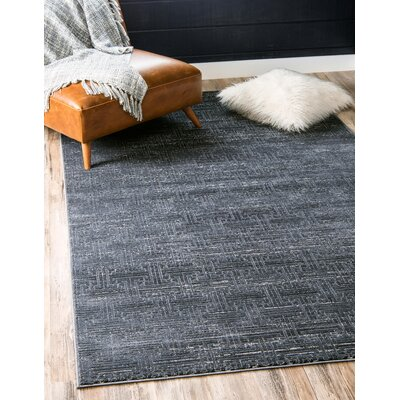 Uptown Navy/Blue Area Rug Rug Size: Rectangle 8 x 10