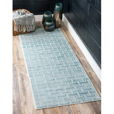 Uptown Blue Area Rug Rug Size: Rectangle 4 x 6