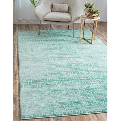Uptown Blue Area Rug Rug Size: Rectangle 8 x 10
