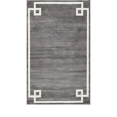 Uptown Gray Area Rug Rug Size: Rectangle 8 x 10