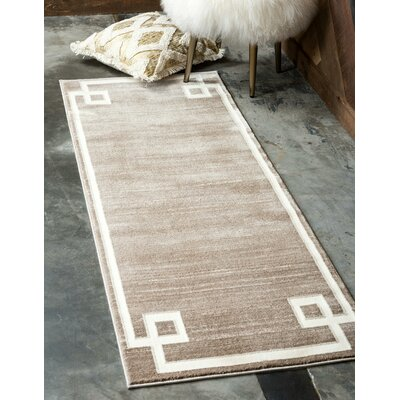 Uptown Light Brown Area Rug Rug Size: Rectangle 4 x 6