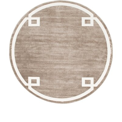 Uptown Light Brown Area Rug Rug Size: Round 8