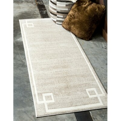 Uptown Beige Area Rug Rug Size: Rectangle 9 x 12