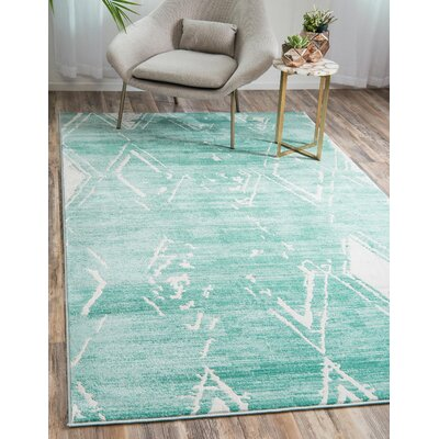 Uptown Turquoise Area Rug Rug Size: Rectangle 4 x 6