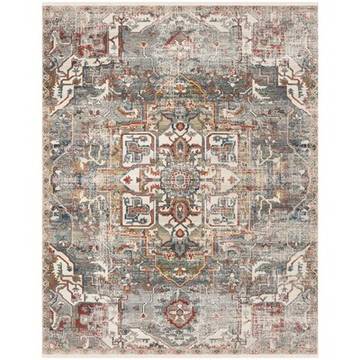 Feldmann Vintage Persian Charcoal/Olive Area Rug Rug Size: Rectangle 4 x 6