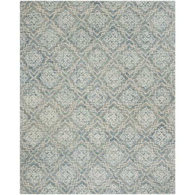 Salerna Hand-Tufted Wool Blue/Gray Area Rug Rug Size: Rectangle 8 x 10