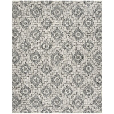 Tolland Hand-Tufted Wool Gray Area Rug Rug Size: Rectangle 4 x 6