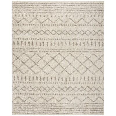 Masuda Shag Ivory/Beige Area Rug Rug Size: Rectangle 51 x 76