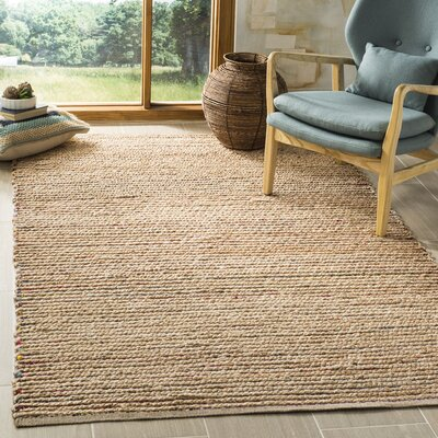Chupp Hand-Woven Beige Area Rug Rug Size: Rectangle 6 x 9