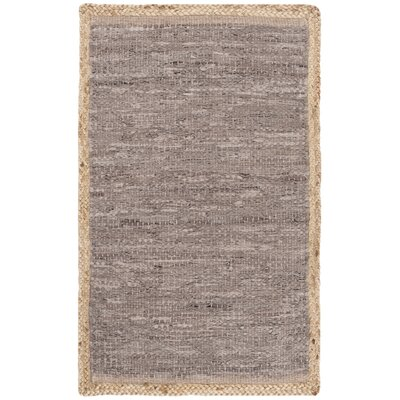 Church Hand-Woven Light Gray/Natural Area Rug Rug Size: Rectangle 5 x 8