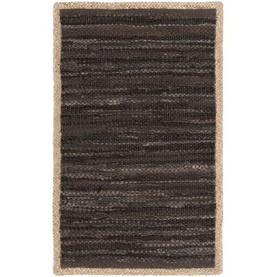 Church Hand-Woven Chocolate/Natural Area Rug Rug Size: Rectangle 8 x 10