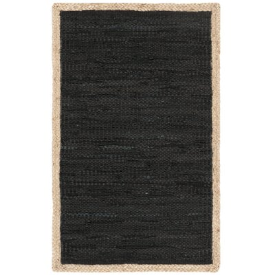 Church Hand-Woven Black/Natural Area Rug Rug Size: Rectangle 3 x 5