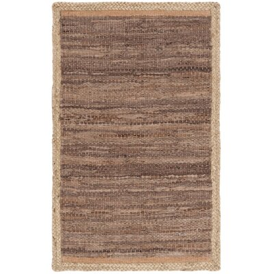 Church Hand-Woven Brown/Natural Area Rug Rug Size: Rectangle 5 x 8