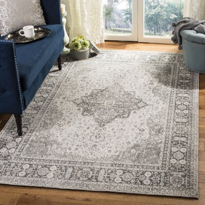 Foxborough Classic Vintage Olive/Ivory Area Rug Rug Size: Rectangle 4 x 6