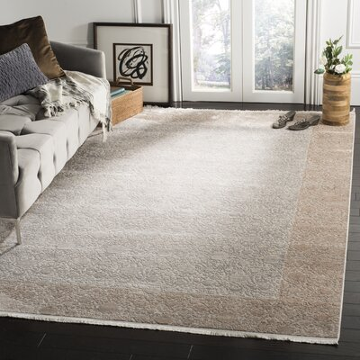 Pulliam Beige Area Rug Rug Size: Rectangle 9 x 12