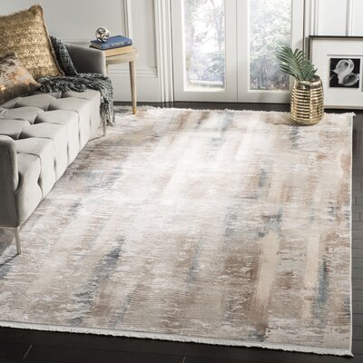 Cuadrado Beige Area Rug Rug Size: Rectangle 9 x 12