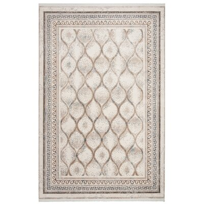 Insley Beige Area Rug Rug Size: Rectangle 4 x 6