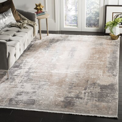 Cuccia Beige Area Rug Rug Size: Rectangle 4 x 6
