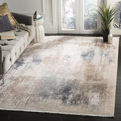 Cuellar Beige Area Rug Rug Size: Rectangle 4 x 6