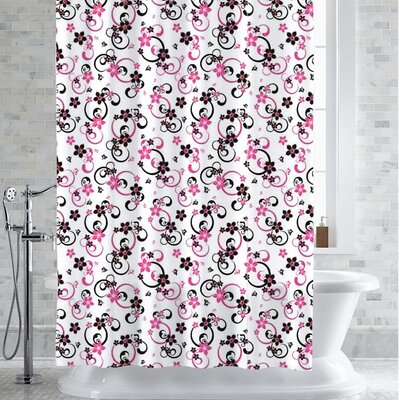 Hibbs Adriana Floral Print Shower Curtain