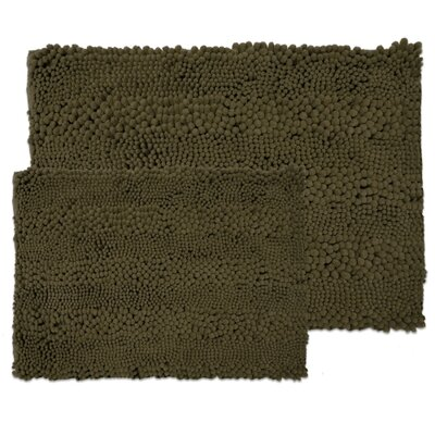 Kratzer Aldante 2 Piece Chenille Bath Rug Set Color: Chocolate