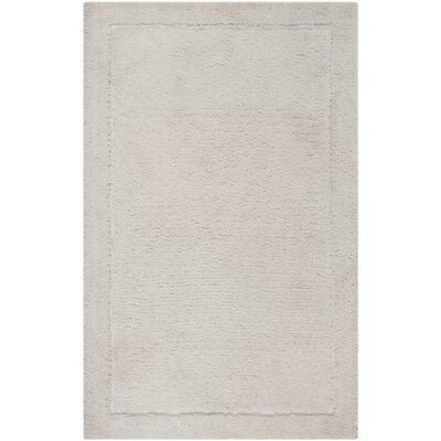 Wilbert Shag Hand-Tufted Ivory Area Rug Rug Size: Rectangle 4 x 6