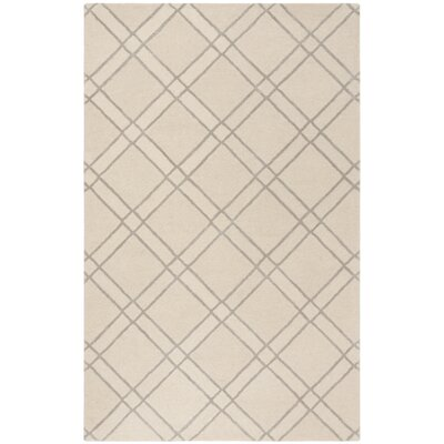 Dirks Hand-Tufted Wool Ivoryr Area Rug Rug Size: Rectangle 5 x 8