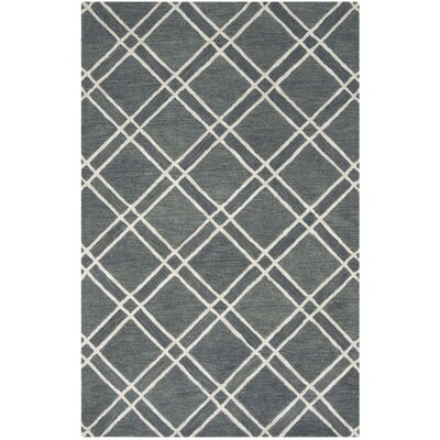 Dirks Hand-Tufted Wool Dark GrayArea Rug Rug Size: Rectangle 5 x 8