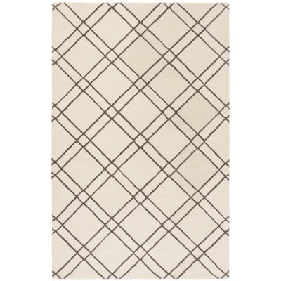 Dirks Hand-Tufted Wool Ivory Area Rug Rug Size: Rectangle 3 x 5