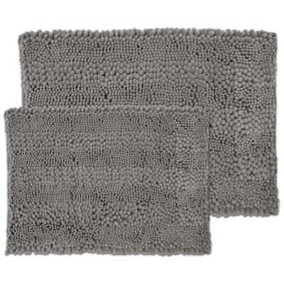 Kratzer Aldante 2 Piece Chenille Bath Rug Set Color: Silver Gray