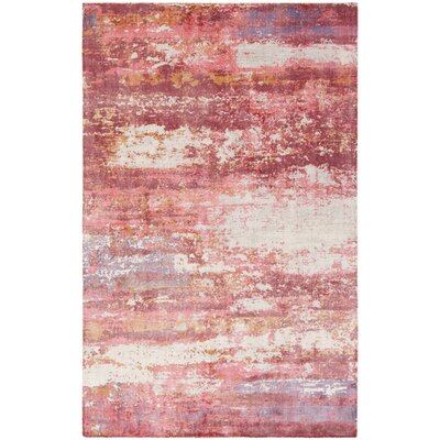 Cuevas Hand-Woven Red/Ivory Area Rug Rug Size: Rectangle 8 x 10