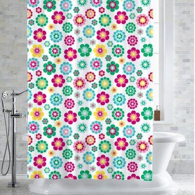 Hibner Alexia Floral Print Shower Curtain