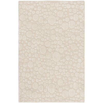 Oliverio Hand-Woven Cream Area Rug Rug Size: Rectangle 6 x 9